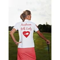 Damen Polo Shirt Austrian Golf Lady WEISS
