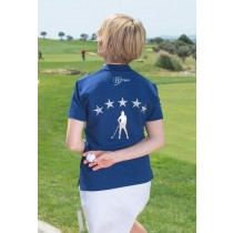 Damen Golf Polo Shirt Brittigan VIP navy