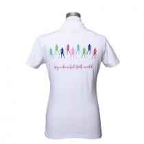 Damen Polo Shirt Colourful Golf World