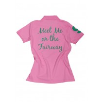 Damen Polo Shirt Meet me on the Fairway ROSA