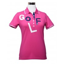Damen Polo Shirt GOLF PINK