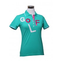 Damen Polo Shirt GOLF Smaragd
