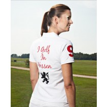 Damen Polo Shirt I golf in Hessen WEISS