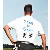 Herren Golf Polo Shirt I golf in Bayern 2013 WEISS