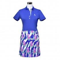 Golfkleid Floral royalblau