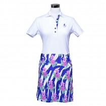 Golfkleid Floral weiss