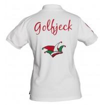 Damen Polo Shirt Golfjeck WEISS