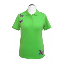 Polo Shirt Butterfly GRÜN