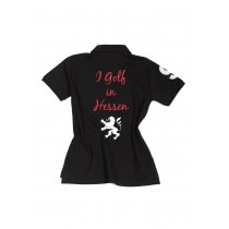 Damen Polo Shirt I golf in Hessen SCHWARZ
