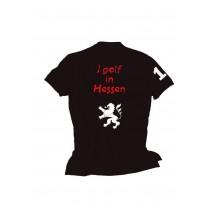 Herren Polo Shirt I golf in Hessen SCHWARZ