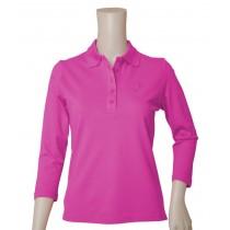 Polo LOG Dreiviertel Armlänge pink