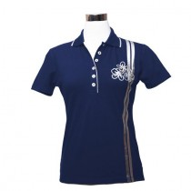 Damen Golf Polo Shirt Bloom navy