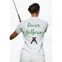 Damen Polo Shirt Revier Golferin WEISS