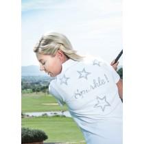 Damen Polo Sparkle weiss