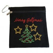 Brittigan Weihnachts Accessoire Bag Merry Golfmas schwarz
