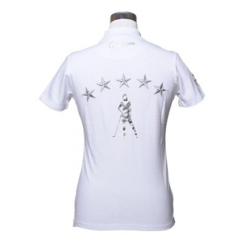 Damen Golf Polo Shirt Brittigan VIP weiss
