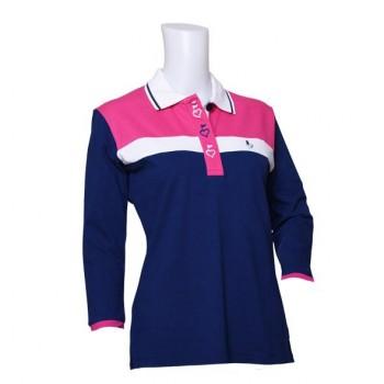 Damen Golf Polo Shirt Jody navy Dreiviertelarm