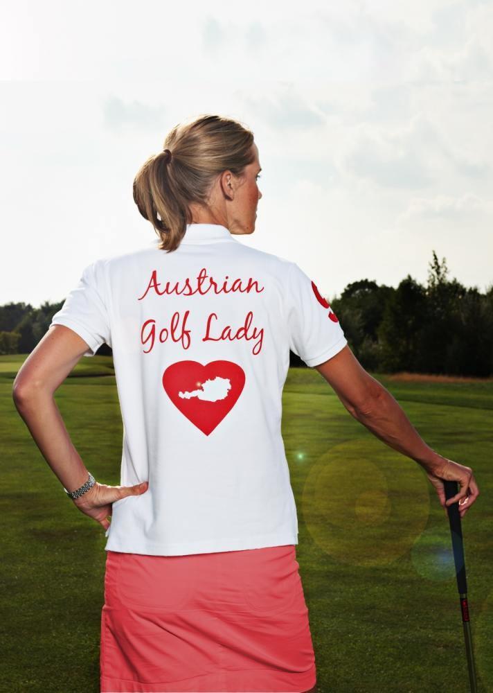 damen polo shirt austrian golf lady weiss damen. Black Bedroom Furniture Sets. Home Design Ideas