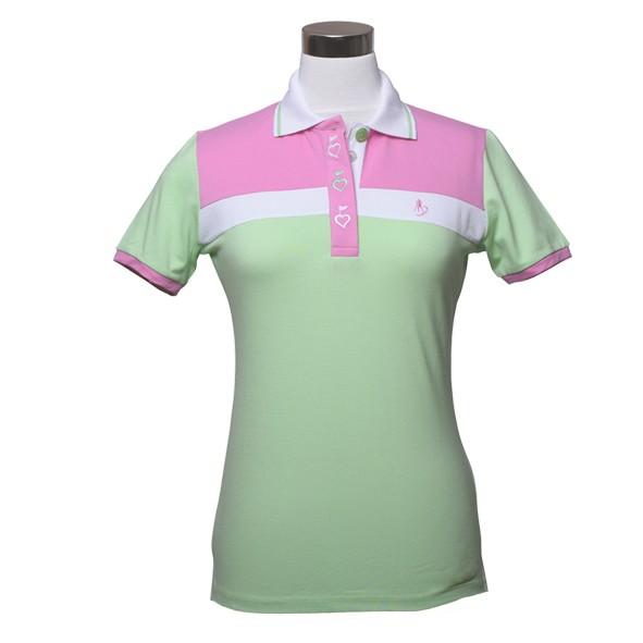 damen golf polo shirt jody hellgr n. Black Bedroom Furniture Sets. Home Design Ideas