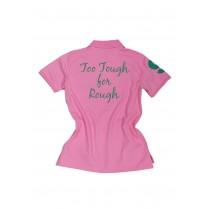 Damen Polo Shirt Too Tough for Rough ROSA