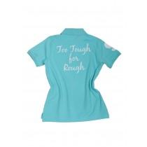 Damen Polo Shirt Too Tough for Rough TÜRKIS