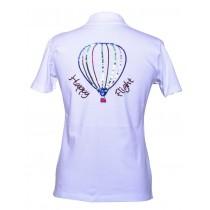 Brittigan Damen Golf Polo Shirt Happy Flight Balloon