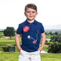 "Brittigan Kinder Polo Shirt ""Boom"""