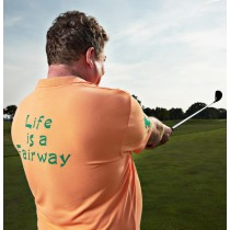 Herren Polo Shirt Life is a Fairway ORANGE