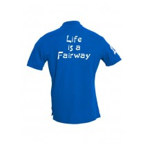 Herren Polo Shirt Life is a Fairway BLAU