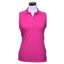 Damen Polo Shirt Brae ärmellos pink