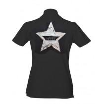Brittigan Damen Golf Polo Star schwarz