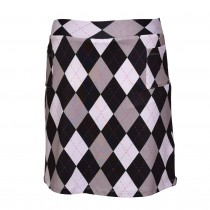 Brittigan Golf Skort All Squares schwarz