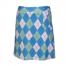 Brittigan Golf Skort All Squares turquoise