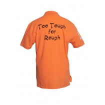 Herren Polo Shirt Too Tough for Rough ORANGE
