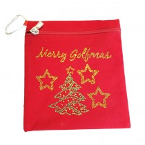 Brittigan Weihnachts Accessoire Bag Merry Golfmas rot