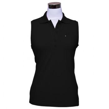Damen Polo Shirt Brae ärmellos schwarz